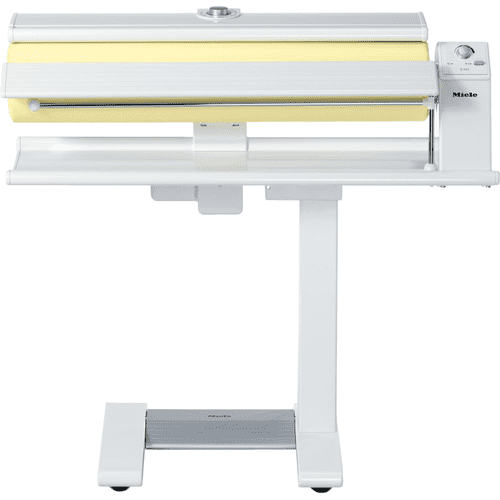 Rotary ironer with high pressure and a wide heater plate for best results.