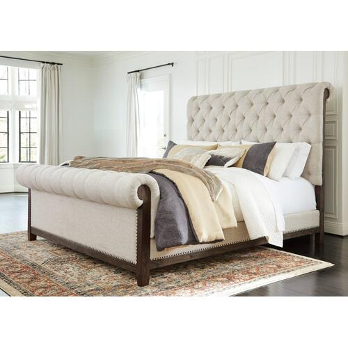 Hillcott King Upholstered Bed