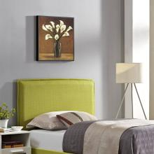 Camille Twin Upholstered Fabric Headboard in Wheatgrass
