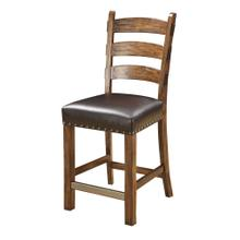 Chambers Creek Barstool W/nailhead Trim-dark Brown Pu Uph Seat