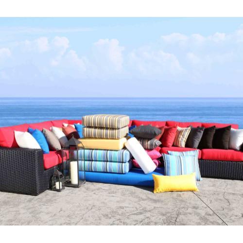"Patio Furniture Cushions & Outdoor Pillows : 19"" x 7"" Bolster"