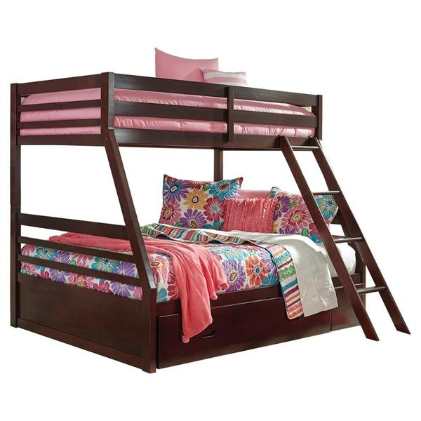 See Details - Halanton Twin Over Full Bunk Bed With 1 Large Storage Drawer