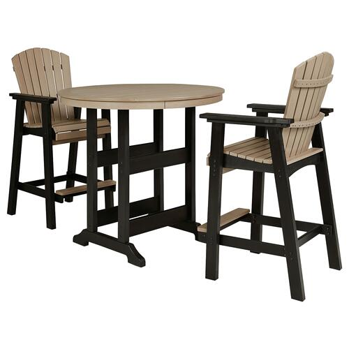 Ashley - Outdoor Bar Table and 2 Barstools