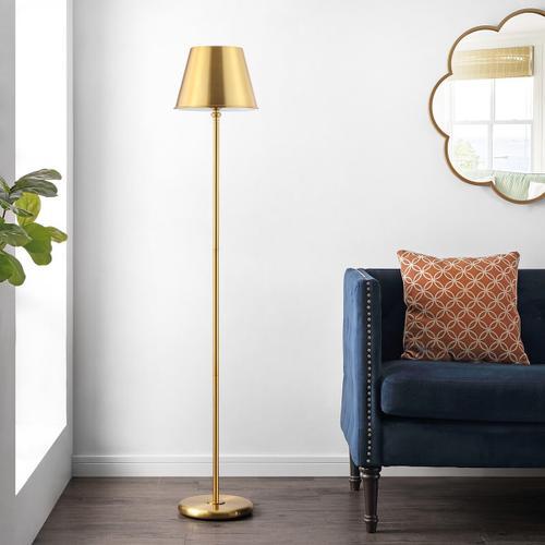 Asher Iron Floor Lamp - Brass