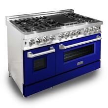 ZLINE 48 in. Professional Dual Fuel Range with Blue Gloss Door (RA-BG-48)