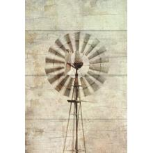 Framed - Windmill Abstract By Ramona Murdock