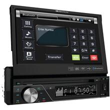 "7"" Single-DIN In-Dash DVD Receiver with Flip-out Display & Bluetooth®"