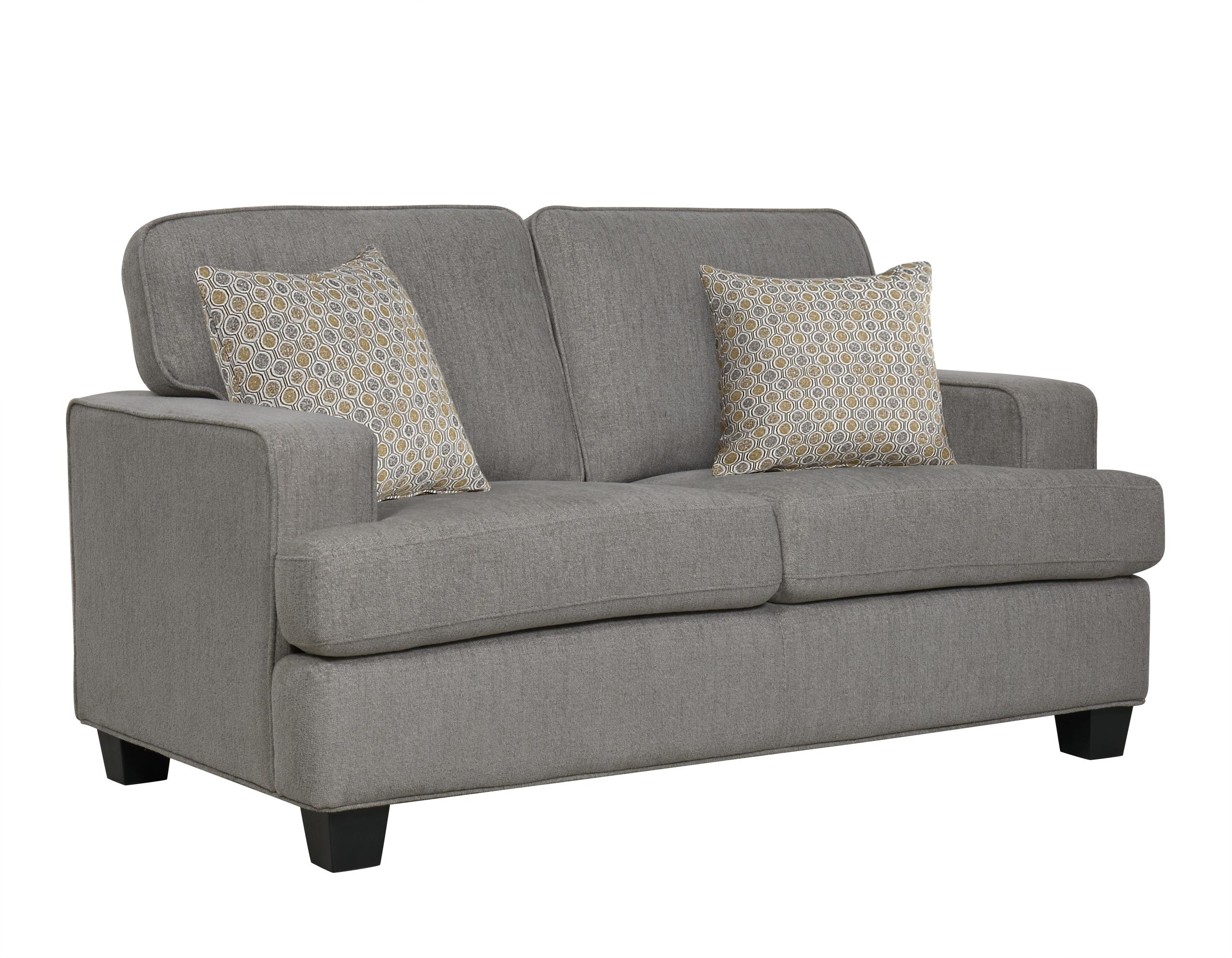 Emerald Home FurnishingsCarter Loveseat, Gray U3477-01-43