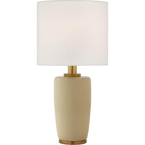 Visual Comfort BBL3601ICO-L Barbara Barry Chado 31 inch 100 watt Coconut Porcelain Table Lamp Portable Light, Large