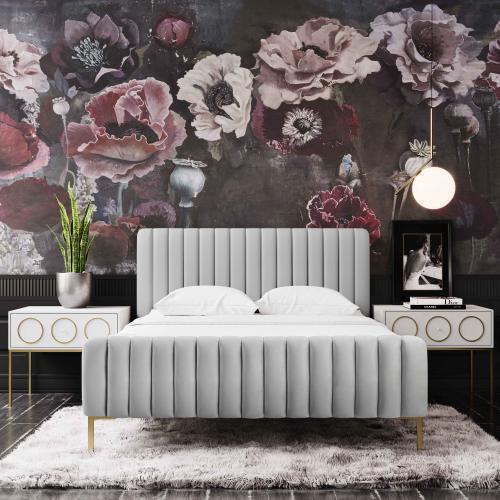 Angela Grey Bed in Full