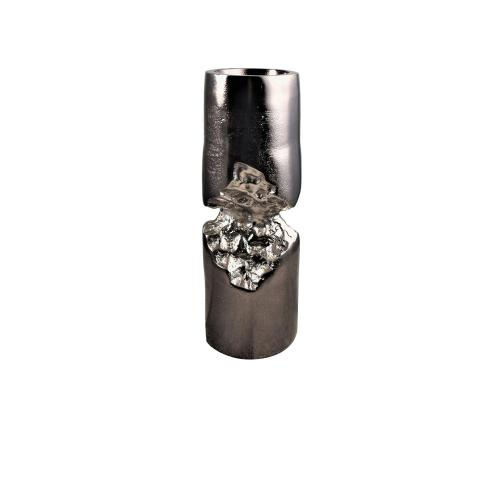 Crestview Collections - Small Dario Chiseled Cylinder Candle Holder I