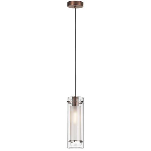 Single Pendant Clear Frosted Glass