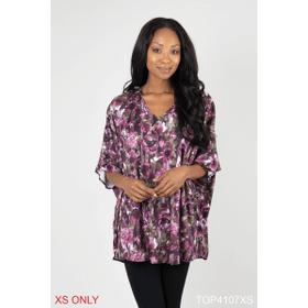 Blooming Romance Printed Knit Tunic - XS (2 pc. ppk.)