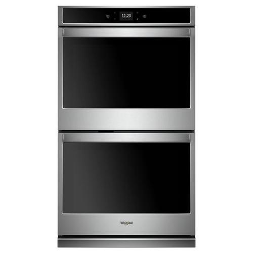 OPEN BOX Whirlpool® 8.6 cu. ft. Smart Double Wall Oven with Touchscreen - Stainless Steel