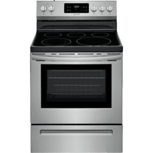 REFURBISHED Frigidaire 30'' Electric Range. (This is a Stock Photo, actual unit (s) appearance may contain cosmetic blemishes.  Please call store if you would like actual pictures).  This unit carries our 6 month warranty, MANUFACTURER WARRANTY and REBATE NOT VALID with this item. ISI 42654