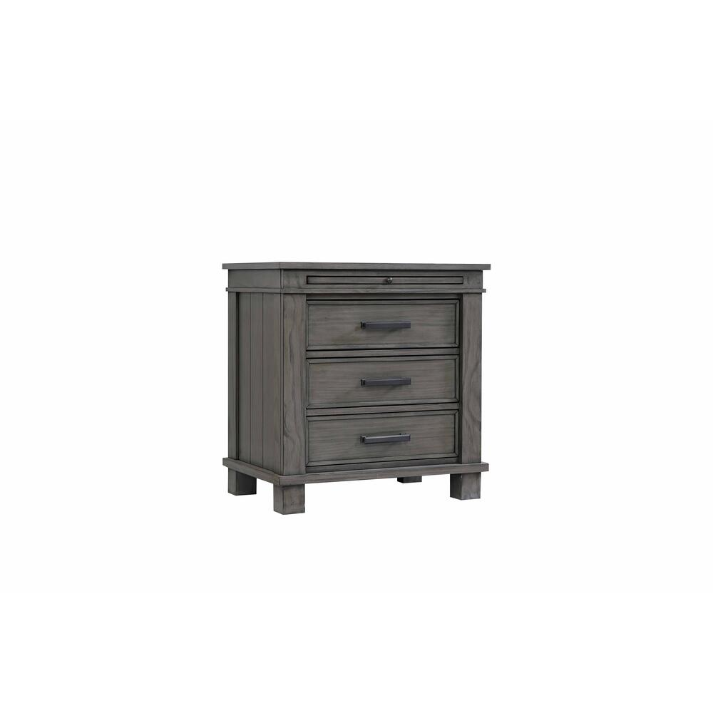 3-drawer Nightstand W/usb
