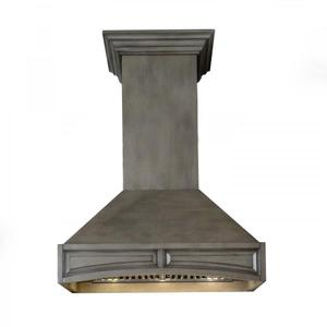 ZLINE Wooden Wall Mount Range Hood in Distressed Gray - Includes Motor (321GG) [Size: 30 inch] -