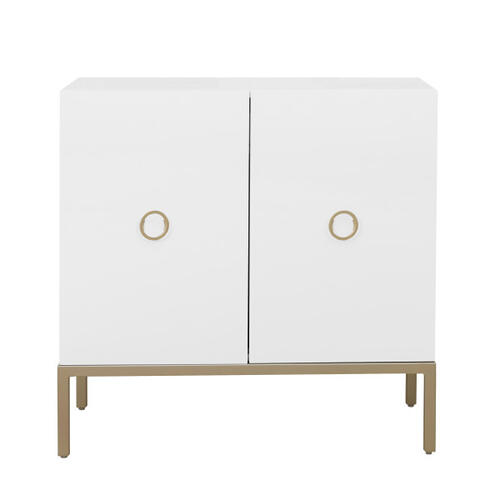 White Two Door Accent Cabinet