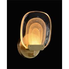 Bansho: Single Light Layered Glass Wall Sconce