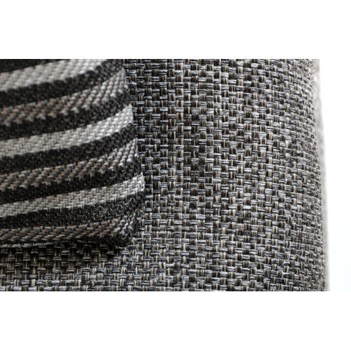 David Ferrari Panorama Italian Modern Grey Fabric & Grey Leather Sectional Sofa