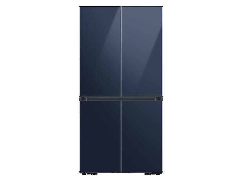 23 cu. ft. Smart Counter Depth BESPOKE 4-Door Flex™ Refrigerator with Customizable Panel Colors in Navy Glass