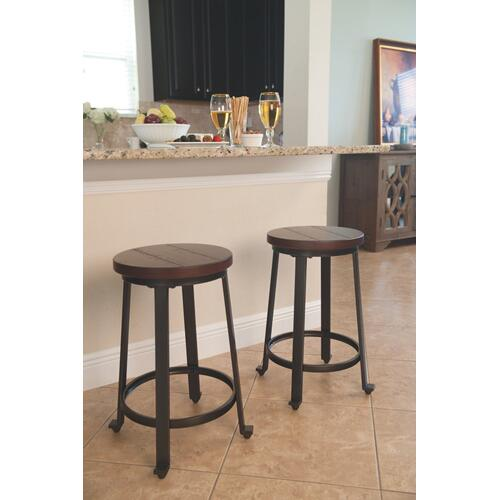 Challiman Counter Height Bar Stool Rustic Brown