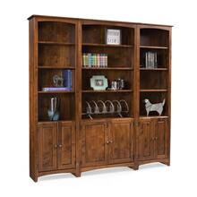 See Details - Flush Bookcase Wall Example