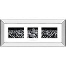 """""""Zen Garden Triptych"""" By Chris Simpson Mirror Framed Print Wall Art"""
