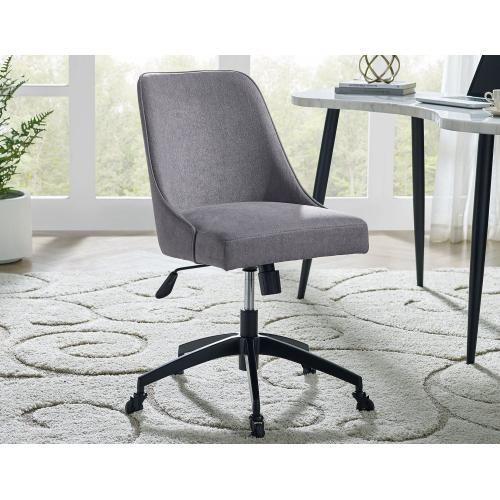 Kinsley Swivel Upholstered Desk Chair, Gray