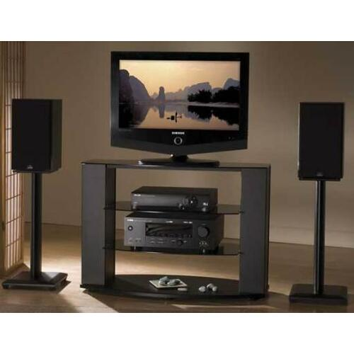 "Black Natural Series 18"" tall for medium to large bookshelf speakers"