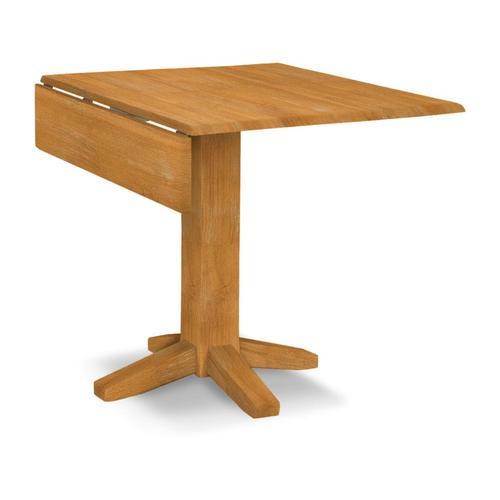 Square Dropleaf Pedestal Table