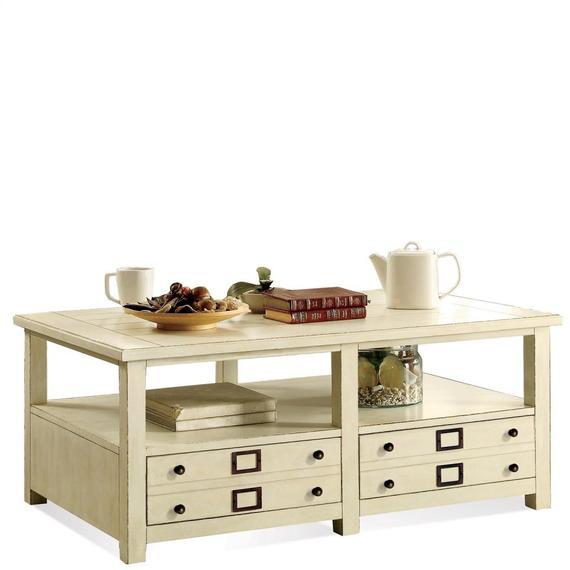 Riverside - Sullivan - Coffee Table - Country White Finish