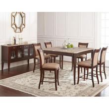 Marseille 7 Piece Marble Top Counter Set(Counter Table & 6 Counter Chairs)