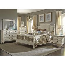 King Poster Bed, Dresser & Mirror, N/S