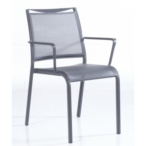 Maribo Aluminum Stackable Sling Bistro Arm Chair