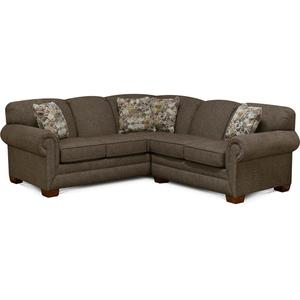 England Furniture1430R-Sect Monroe Sectional