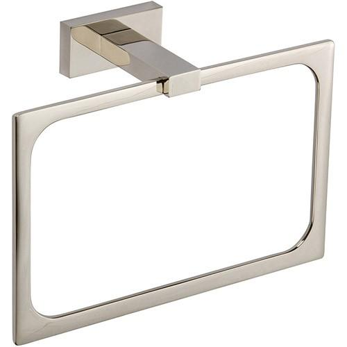 Axel Bath Towel Ring - Polished Nickel