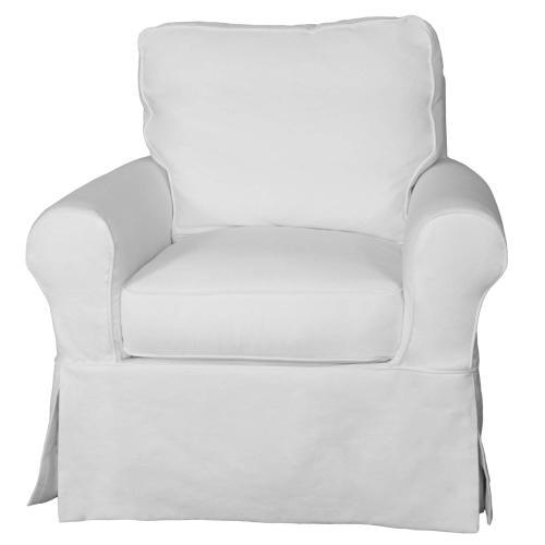 Sunset Trading - Horizon Slipcovered Swivel Rocking Chair - Color 391081