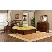 Metro 4pc Cherry Bedroom with Riva Queen Storage Bed