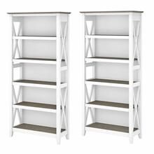 See Details - 5 Shelf Bookcase Set, Shiplap Gray/Pure White