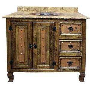 """L.M.T. Rustic and Western Imports - 36"""" Vanity W/Marble Top"""