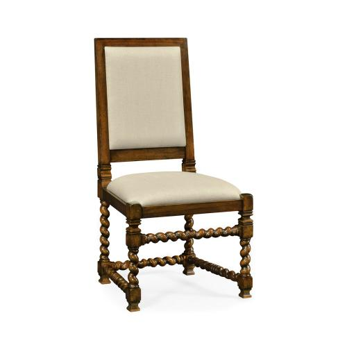 Carolean style chair with upholstered back (Side)