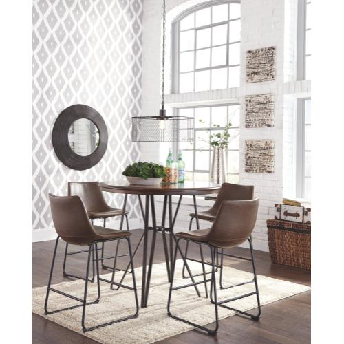 Centiar Brown 5PC Counter Dining Room Set (D372)