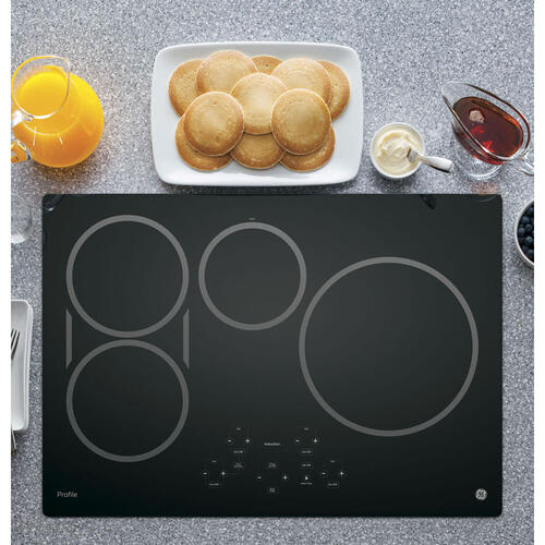 "GE Profile 30"" Induction Cooktop Black PHP9030DJBB"