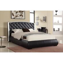 7556 Fabric Tufted Headboard Platform Bed - CALIFORNIA KING