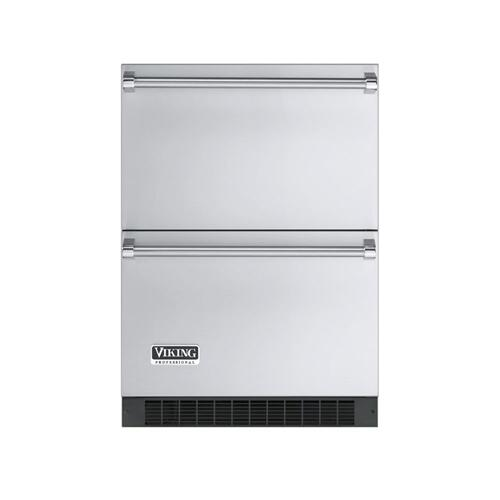 """Viking - Stainless Steel 24"""" Refrigerated Drawer - VURD (Professional Outdoor model)"""