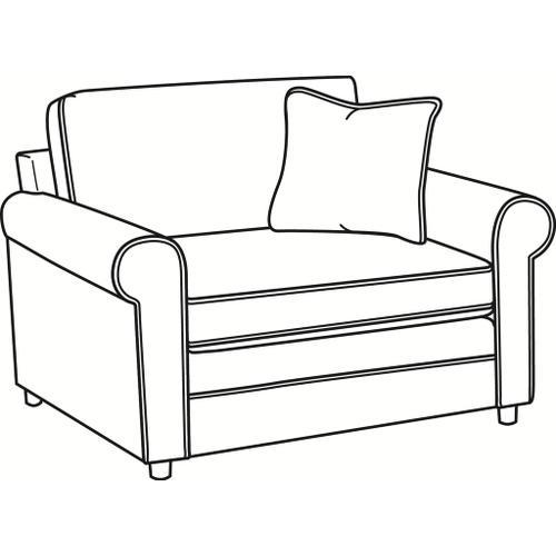 Braxton Culler Inc - Edgeworth Chair and 1/2 Twin Sleeper