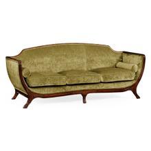 Empire style sofa (Walnut/Velvet Lime)