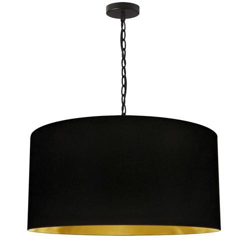Product Image - 1lt Braxton Large Pendant, Blk/gld Shade, Blk