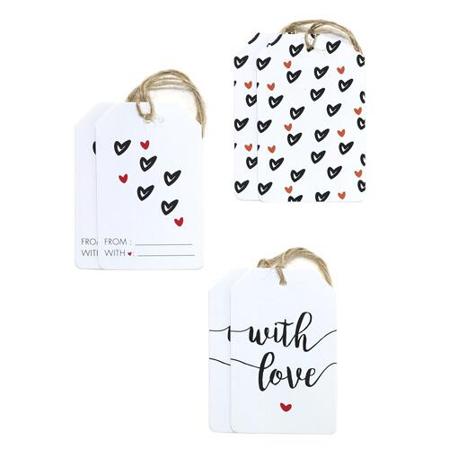 Hearts- Pack of 6 Love Gift Tags